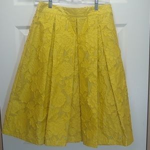 Who What Wear mustard yellow brocade skirt - SZ 4